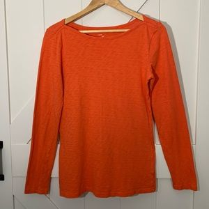 J Crew Artist Long Sleeve T, Orange